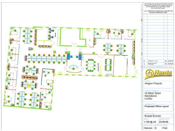 2D Space Planning - Office Planning, Space Planning, Office Layout, Office Furniture